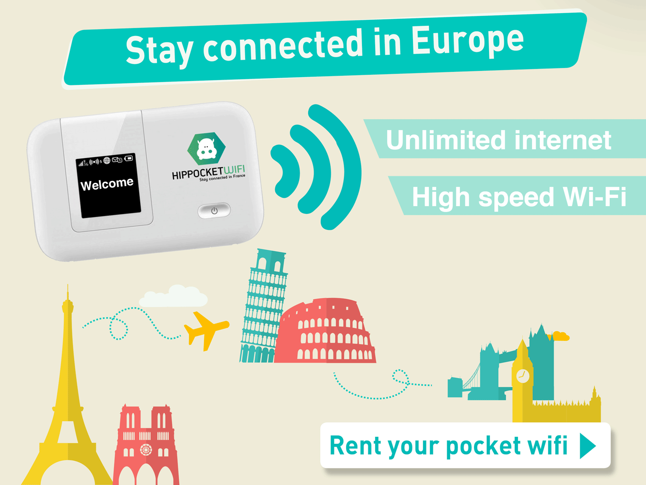 Portable WiFi in Europe with Hippocketwifi - Justin Plus Lauren